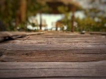 Alte hölzerne Brücke blackground Beschaffenheit Stockbild