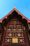 Alte hölzerne Buddhismus-Kirche Stockbild