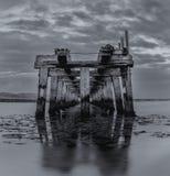 Alte hölzerne Eisenbahnbrücke II Stockfoto