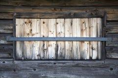 Alte hölzerne Fenster Stockfoto