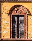Alte hölzerne Fensterläden Lizenzfreies Stockbild