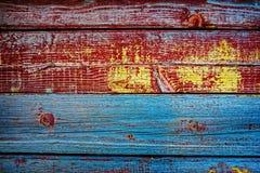 Alte hölzerne gemalte Bretter Stockfotos