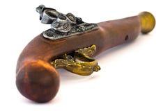 Alte hölzerne Gewehr senken Seite Lizenzfreie Stockbilder