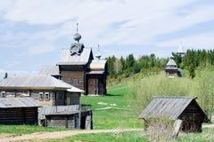 Alte hölzerne Häuser Lizenzfreies Stockfoto
