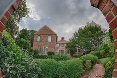 Alte hölzerne Häuser Alexandrias Virginia Stockfoto