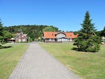 Alte hölzerne Häuser, Litauen Lizenzfreies Stockbild