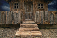 Alte hölzerne Hütte Stockfoto