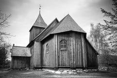 Alte hölzerne Kirche Lizenzfreie Stockfotografie