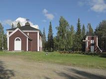 Alte hölzerne Kirche Stockfoto