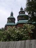 Alte hölzerne Kirche Stockbild