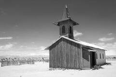 Alte hölzerne Kirche in der Wüste von Namibia Lizenzfreie Stockfotografie