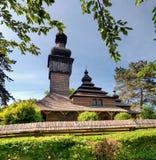 Alte hölzerne Kirche, Uzhgorod, Ukraine Stockbild