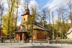 Alte hölzerne Kirche in Zakopane Lizenzfreie Stockbilder