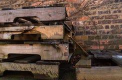 Alte hölzerne Ladeplatten Lizenzfreie Stockbilder