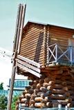 Alte hölzerne Mühle stockfotografie