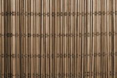 Alte hölzerne Mattenbeschaffenheit der Bild-Nahaufnahme für Hintergrund Lizenzfreie Stockbilder