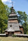 Alte hölzerne orthodoxe Kirche in Bartne Stockfotografie