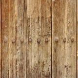 Alte hölzerne Planken-Platte mit geschmiedetem Rusty Iron Nails Texture Lizenzfreie Stockbilder