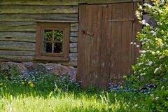 Alte hölzerne Sauna Lizenzfreie Stockbilder