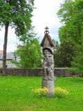 Alte hölzerne Statue, Litauen Stockbild
