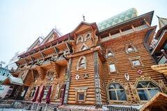 Alte hölzerne Struktur bei Izmailovsky der Kreml, Moskau Stockfoto