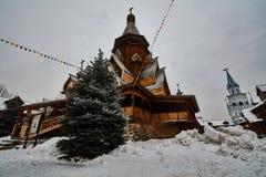 Alte hölzerne Struktur bei Izmailovsky der Kreml, Moskau Stockfotos