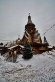 Alte hölzerne Struktur bei Izmailovsky der Kreml, Moskau Stockfotografie