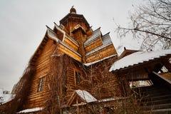 Alte hölzerne Struktur bei Izmailovsky der Kreml, Moskau Stockbilder