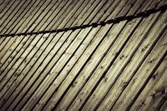 Alte hölzerne Täfelung im Bogen Stockfoto