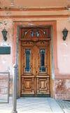 Alte hölzerne Tür Lizenzfreies Stockbild