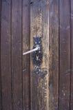 Alte hölzerne Tür Stockbild