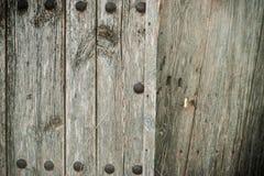 Alte hölzerne Tür Stockfoto