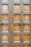 Alte hölzerne Tür. lizenzfreie stockbilder
