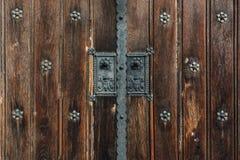 Alte hölzerne Tür bratislava slowakei Stockfotografie