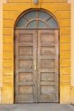 Alte hölzerne traditionelle Tür Stockfoto
