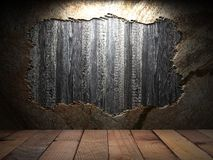 Alte hölzerne Wand Stockbild