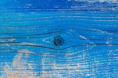 Alte hölzerne Wand gemalt in der blauen Farbe Stockfoto