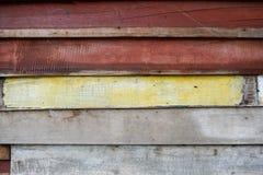 Alte hölzerne Wand, gemalter hölzerner Plankenbeschaffenheitshintergrund Stockbild