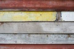 Alte hölzerne Wand, gemalter hölzerner Plankenbeschaffenheitshintergrund Lizenzfreies Stockbild