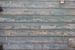 Alte hölzerne Wand, mangels der Farbe Stockfoto