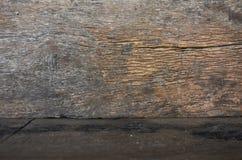 Alte hölzerne Wand- und Bodenbeschaffenheit Lizenzfreies Stockfoto