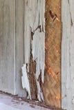Alte hölzerne Wandtermiten der Nahaufnahme Lizenzfreies Stockbild
