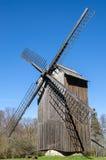 Alte hölzerne Windmühle, Nahaufnahme Stockfotos