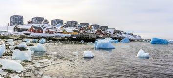 Alte Hafenansicht Nuuk Lizenzfreie Stockfotografie