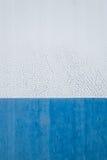 Alte halbweiße und blaue Metallbeschaffenheit Lizenzfreie Stockbilder