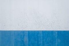 Alte halbweiße und blaue Metallbeschaffenheit Lizenzfreies Stockfoto