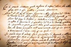 Alte Handbeschriftung Lizenzfreies Stockbild