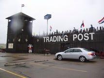 Alte Handelsstation Stockbild