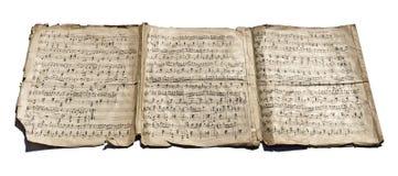 Alte handgeschriebene Anmerkungen Lizenzfreies Stockbild