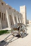 Alte Handkarre bei Sheikh Faisal Museum in Katar Lizenzfreies Stockbild